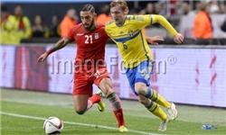 شکست فوتبال ایران مقابل سوئد