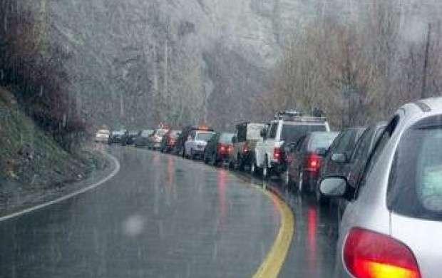بارش باران در جاده های استان های گیلان و مازندران