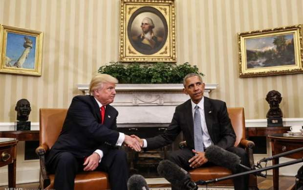قیام اوباما برای به زیرکشیدن ترامپ