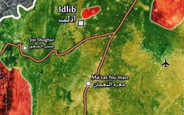 تداوم بمباران مواضع تروریستها در غرب ادلب