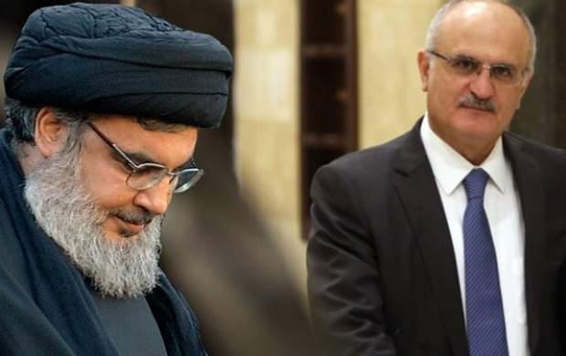 دیدار وزیر اقتصاد لبنان با سیدحسن نصرالله