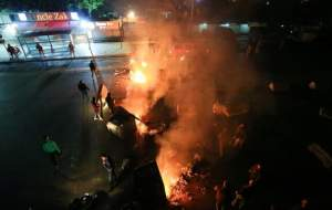 درگیری ارتش لبنان و معترضان حامی حریری در بیروت