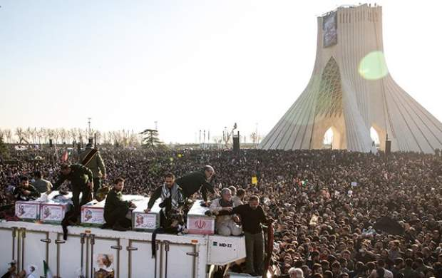 ۲۵ میلیون نفر در تشییع شهید سلیمانی شرکت کردند