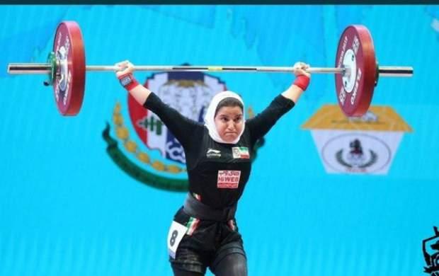 بانوی وزنه بردار ایران در خط مقدم مبارزه با کرونا