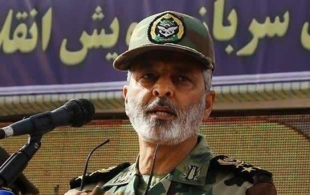 پيام فرمانده ارتش به مناسبت شهادت دريادلان
