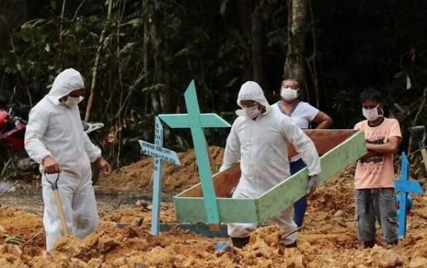 کرونا در برزیل رکورد زد/ ۱۱۷۹ قربانی در یک روز