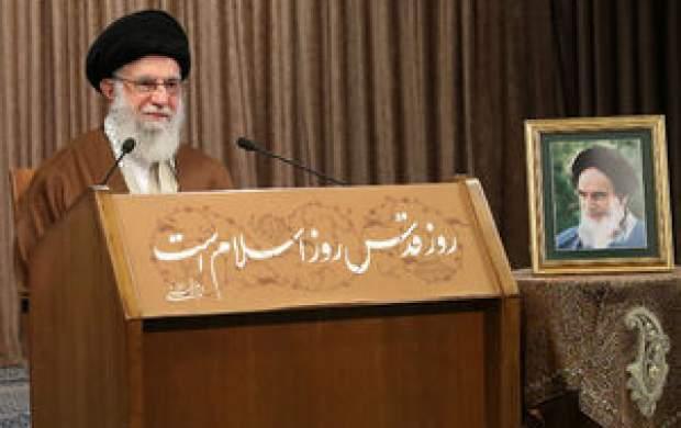 سخنرانی رهبرانقلاب به مناسبت روز قدس