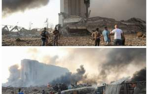 عکس/ نقطه صفر انفجار بیروت و حجم خرابی