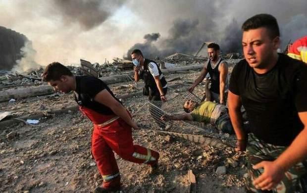 نمای نزدیک لحظه انفجار بیروت