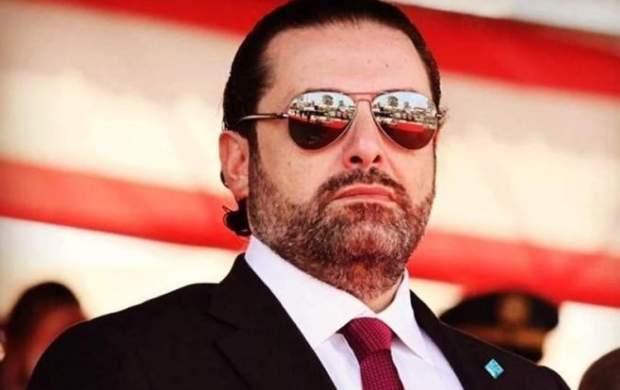 حمله معترضان لبنانی به خودروی الحریری