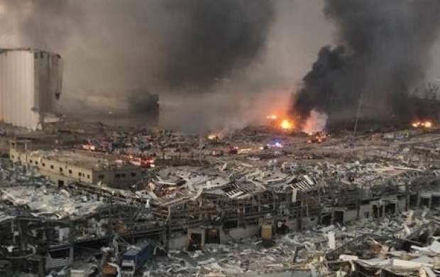لحظه ترسناک انفجار بیروت در اتاق زایمان