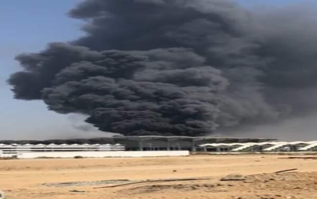 آتشسوزی در ایستگاه قطار جده عربستان