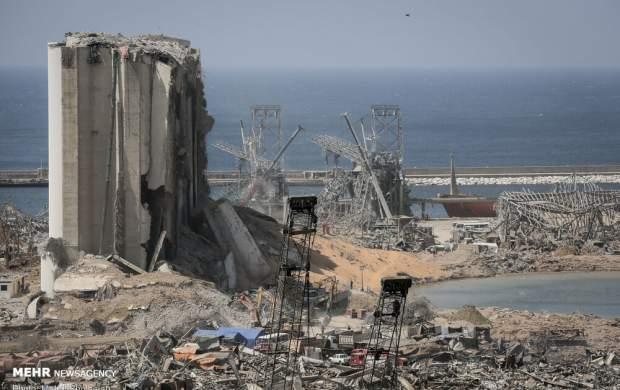 ویدئویی عجیب از قبل و بعد انفجار بیروت