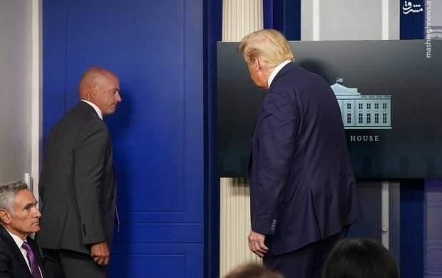 فیلم/ لحظه فرار ترامپ در زمان تیراندازی!