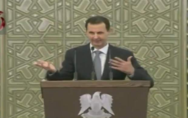 فیلم/ لحظه افت فشار خون بشار اسد