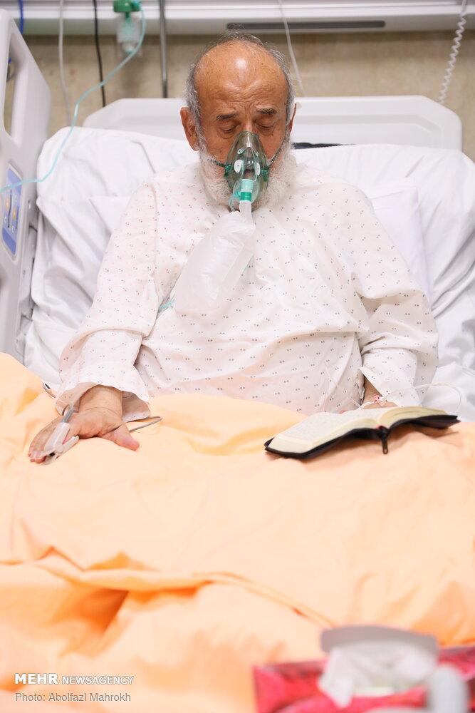 حالوهوای شیخ حسین انصاریان در بیمارستان