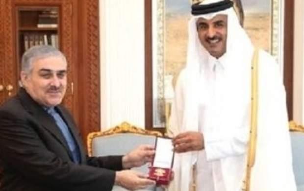 هدیه معنادار امیر قطر به سفیر ایران چه بود؟ +عکس