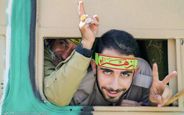 بازآفرینی اعزام رزمندگان به جبههها
