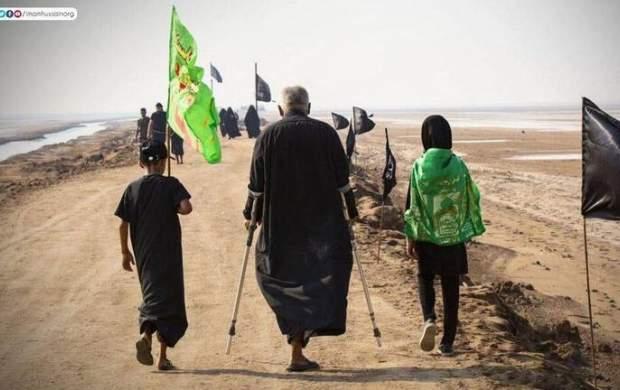 پیادهروی زائرین عراقی به سمت کربلا