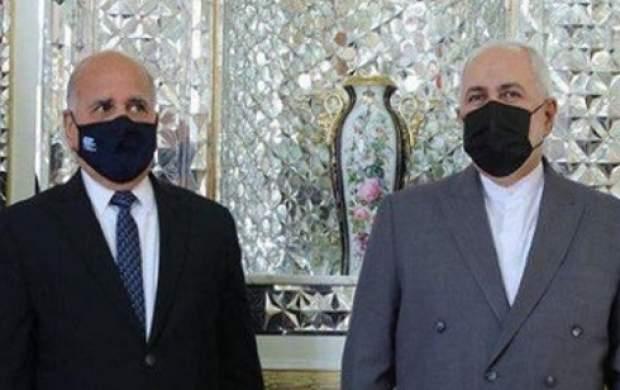 ظریف با وزیر امور خارجه عراق دیدار کرد