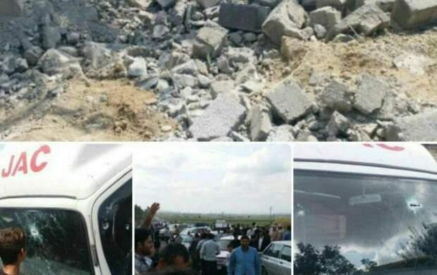 اصابت ۳ خمپاره جنگی به خداآفرین تبریز