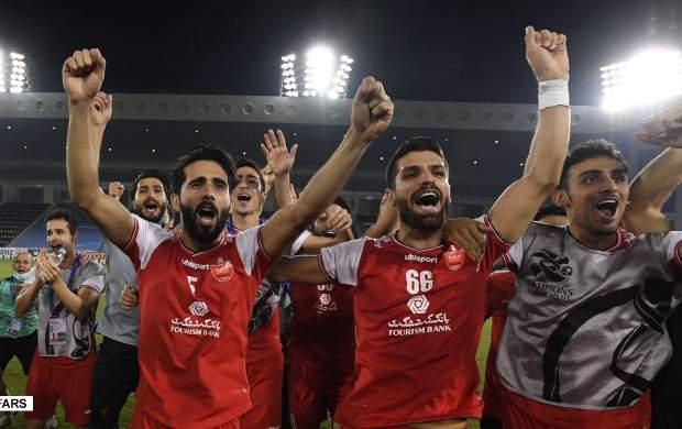 فیلم/جشن بازیکنان پرسپولیس در رختکن