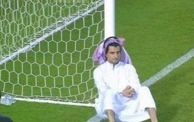 ناراحتی مدیر باشگاه النصر کنار تیرک