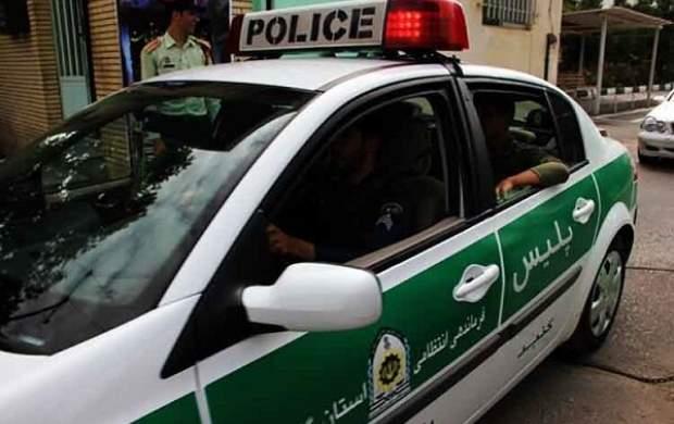 لحظه نفله شدن یکی از اوباش توسط پلیس