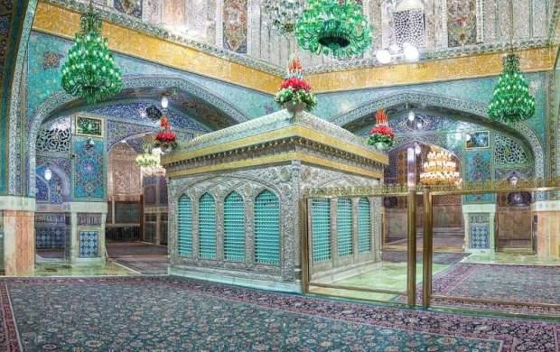 ضریح امام رضا(ع) با نورپردازی جدید +عکس