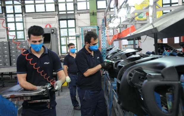 کاهش ارزبری ۱۳۸ میلیون یورویی تولید در گروه صنعتی ایران خودرو