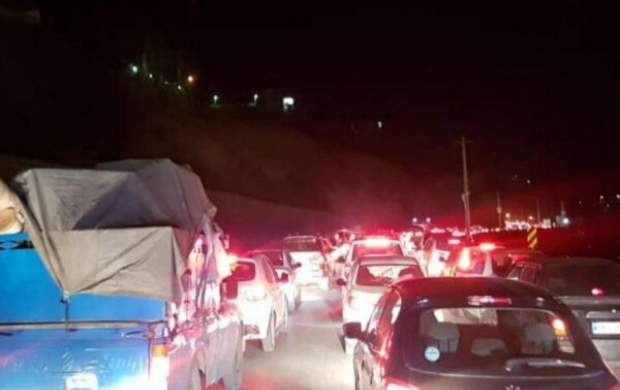 ترافیک در محور چالوس و آزادراه تهران - کرج