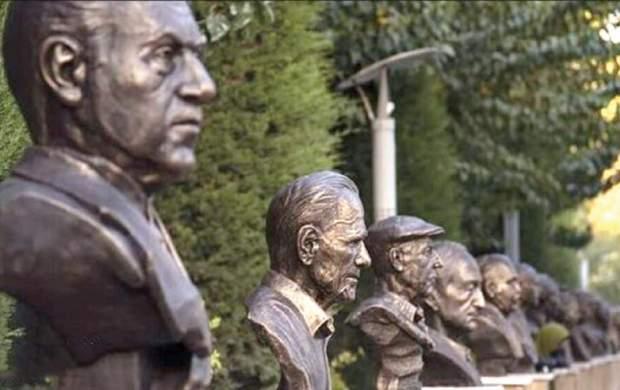 راز مجسمههای بیربط بزرگان هنر ایران