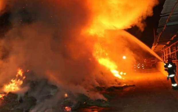 انفجار و آتشسوزی پمپ بنزینی در تهران