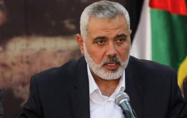 اسماعیل هنیه ترور شهید فخریزاده را محکوم کرد
