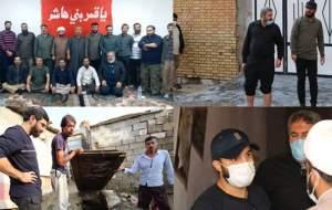 مداحانی که به کمک مردم خوزستان شتافتند +تصاویر