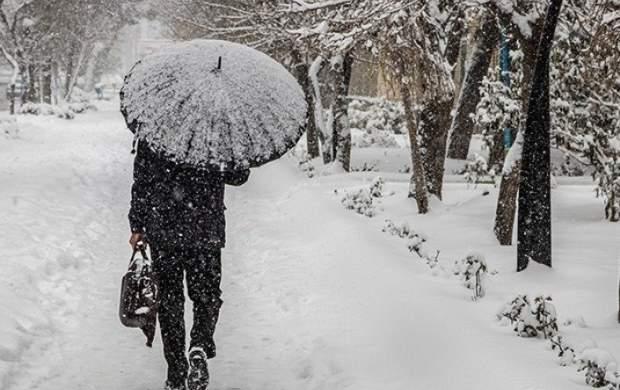 تداوم بارشهای برف و باران در استان تهران