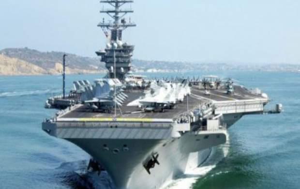 ناو هواپیمابر آمریکا از خلیج فارس خارج میشود