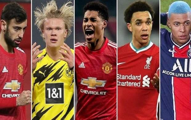 گرانقیمتترین فوتبالیستهای حال حاضر دنیا