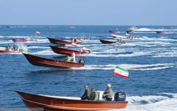 مانور اقتدار ۷۰۰ شناور بسیج دریایی