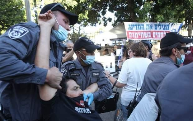 بازداشت معترضان در نزدیکی اقامتگاه نتانیاهو