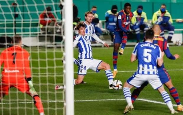صعود بارسلونا بدون مسی در ضربات پنالتی