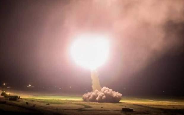 لحظه آغاز موشک باران پایگاه آمریکایی