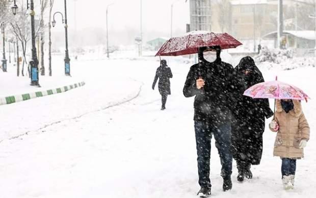 کولاک در راه تهران/ کاهش ۸ تا ۱۲ درجهای دما