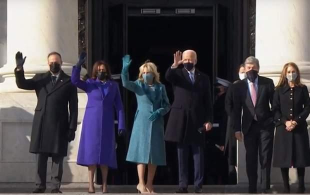 مراسم تحلیف ریاست جمهوری آمریکا در شرایط امنیتی شدید/ بایدن و کاملا هریس سوگند یاد کردند/ بایدن: وقتی برای تلف کردن، نداریم/ حضور بوش، کری و سندرز +تصاویر و فیلم