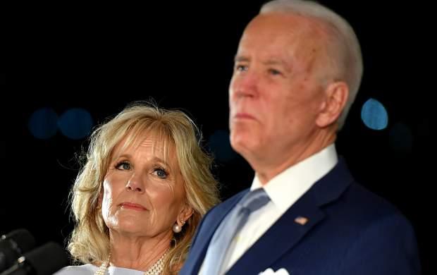 سوتی همسر بایدن در ورود به کاخ سفید!
