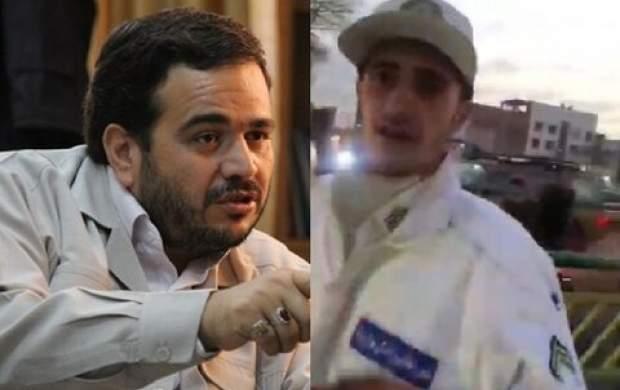 فیلم/ سیلی نماینده مجلس به سرباز راهور