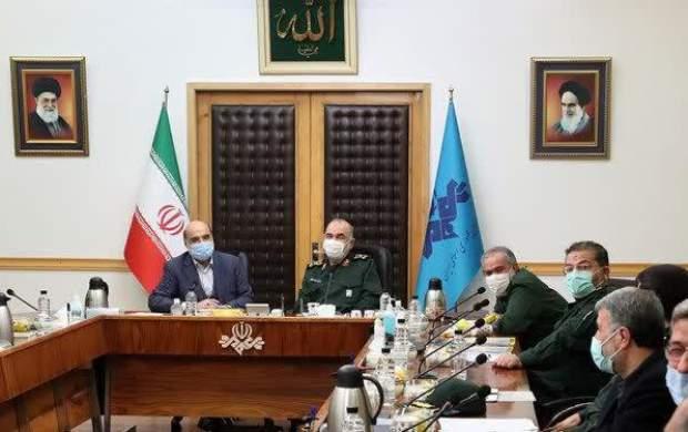 فرمانده سپاه با رئیس صداوسیما دیدار کرد
