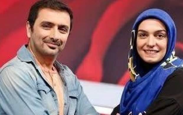 شوخی امین زندگانی با همسرش در تلویزیون