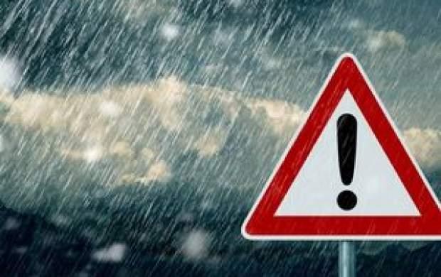 بارش باران ۵ روزه در ۲۱ استان