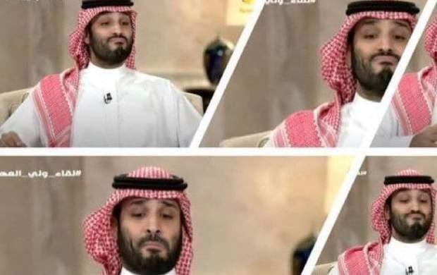 حرکات عجیب بنسلمان در مصاحبه تلویزیونی